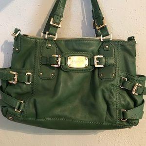 Michael Kors green leather purse